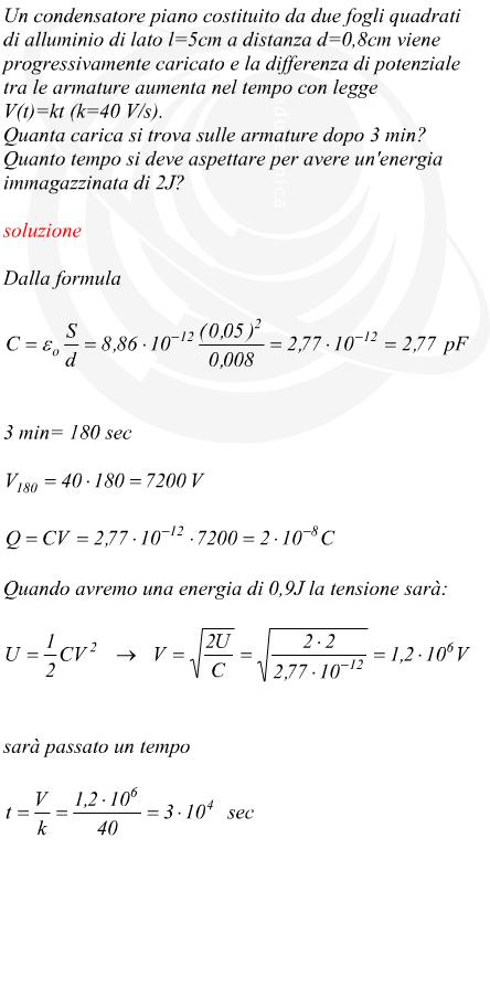 condensatore calcolo
