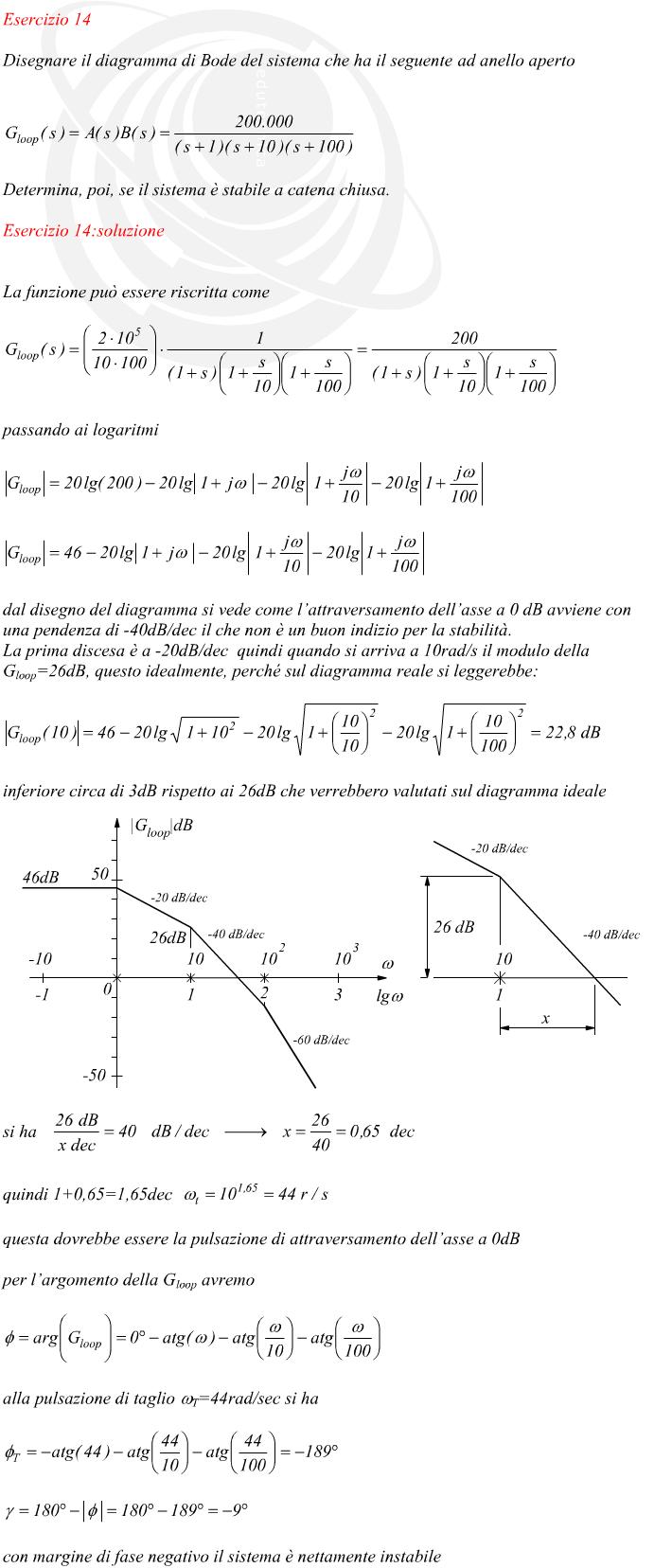 Calcolare La Stabilit U00e0 Criterio Di Bode