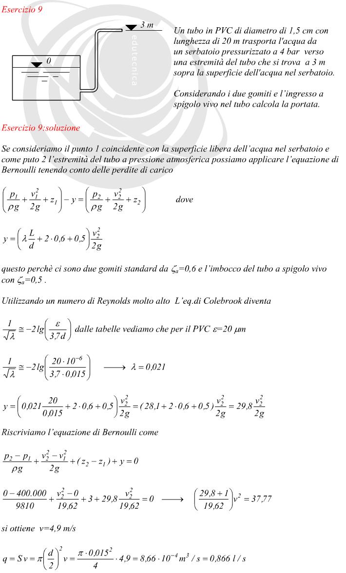 Calcolo della portata in una tubazione non conoscendo il - Calcolo portata da pressione e diametro ...